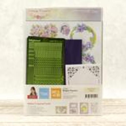 dot and do decoupage set - purple flowers
