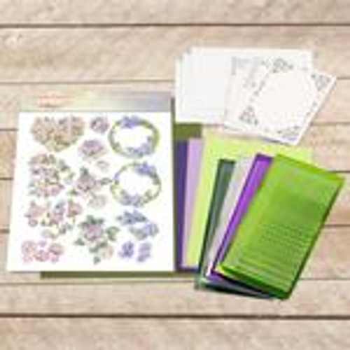 dot and do decoupage set - purple flowers