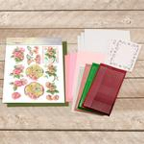 dot and do decoupage set - pink butterfly