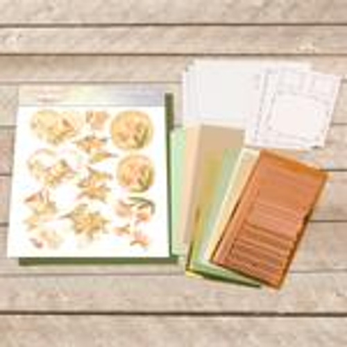 dot and do decoupage set - peach birds