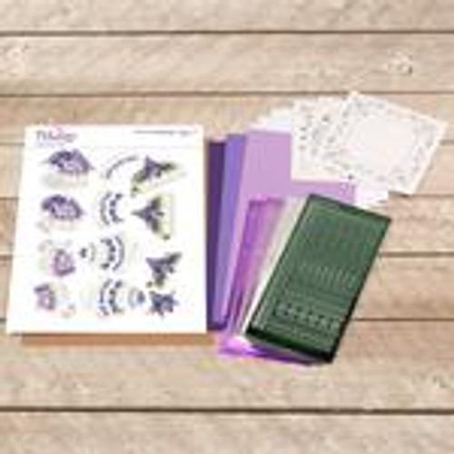 dot and do decoupage set - purple cake