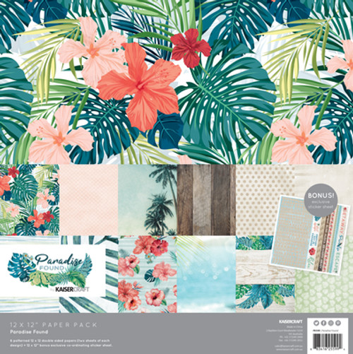 paradise found 12x12 paper pack