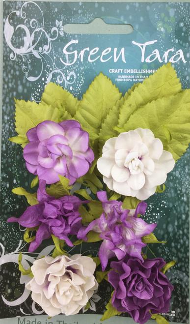 tea roses lavender 6pk