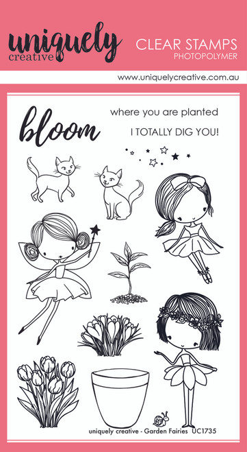 garden fairies stamp