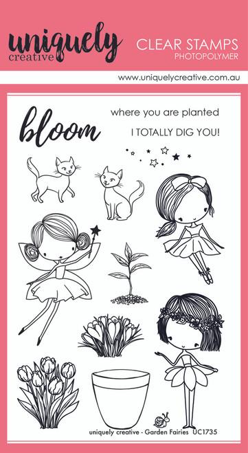 garden fairies stamp