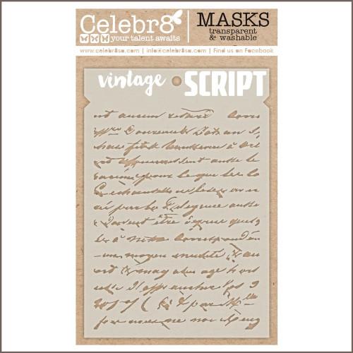 vintage script mask