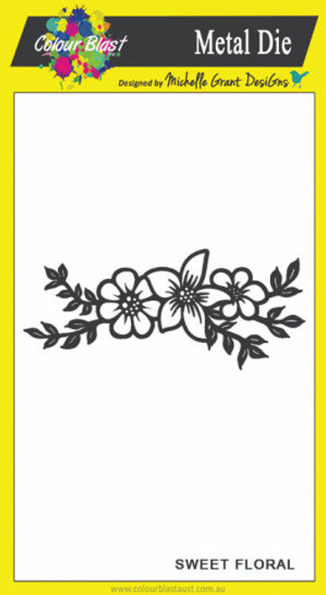 love and grace - sweet floral die
