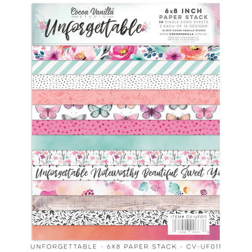 "unforgettable 6""x8"" paper stack"