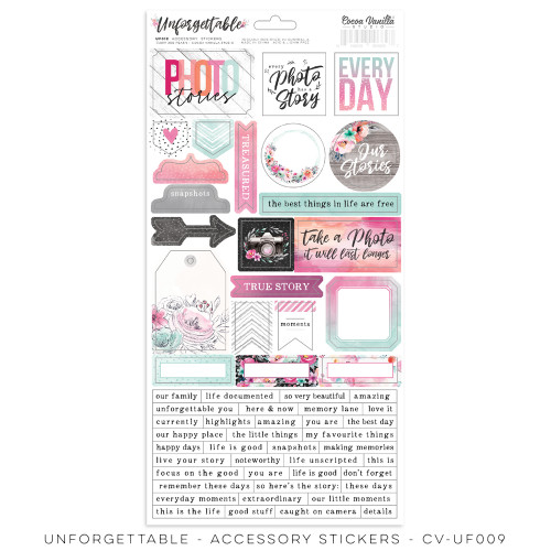 unforgettable - accessory sticker
