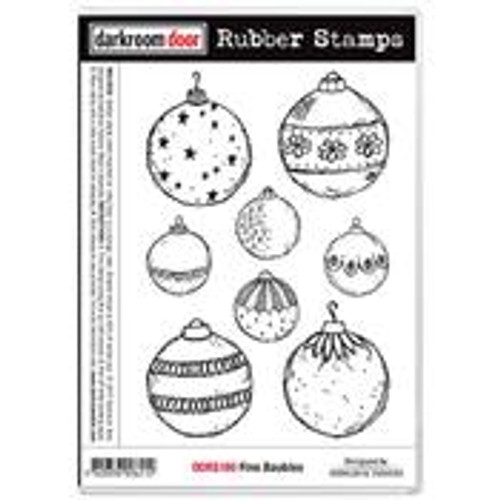 rubber stamp - fine baubles