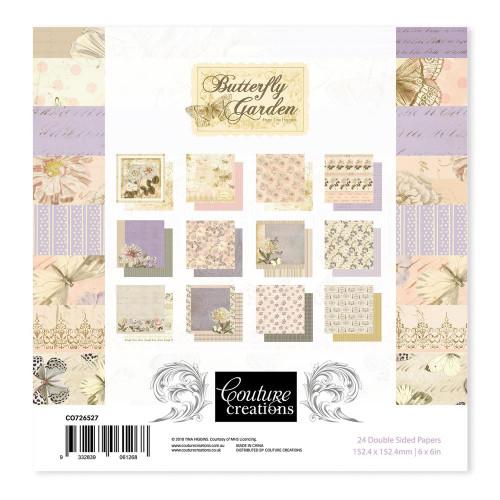 butterfly garden 6x6 paper pad