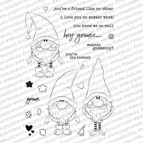 gnomies 4x6 stamp set