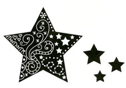 doodled star