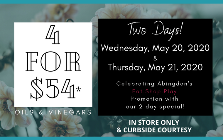 4 for $54 ONE DAY SPECIAL