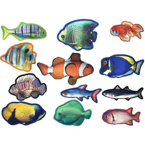 DOGLINE Tropical Fish Dog Toys