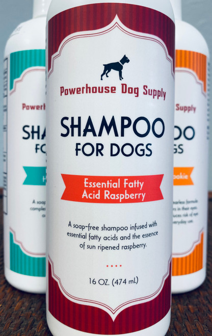 Powerhouse Shampoo Essential Fatty Acid Raspberry