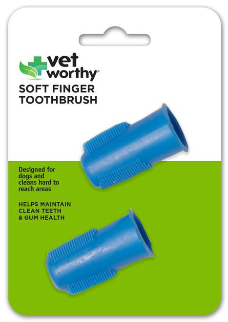Vet Worthy Pet Soft Finger Toothbrush