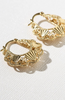 The Gold Lillian Hoops  - Gold