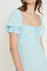 Iris Mini Dress - DARIA FLORAL PRINT
