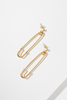 The Danza Small Safety Pin Earrings - Gold