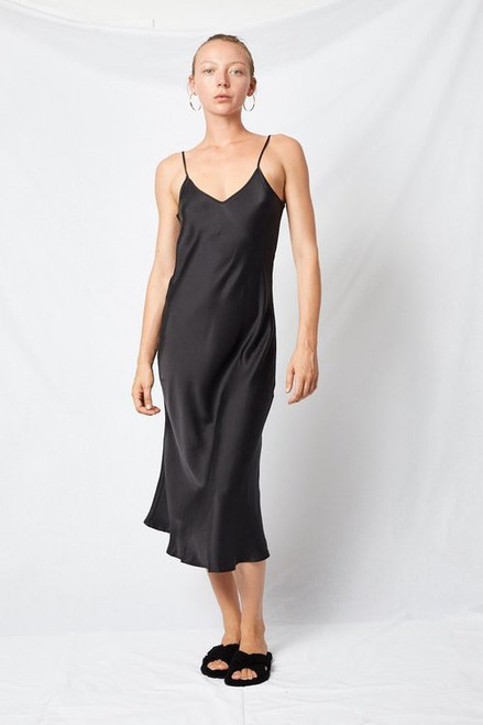 90s Slip Dress - Black