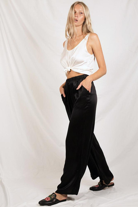 6ba06caca45 Wide Leg Pant - Black - Silk Laundry