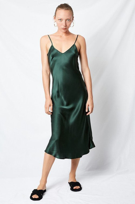 90s Slip Dress - Emerald Green