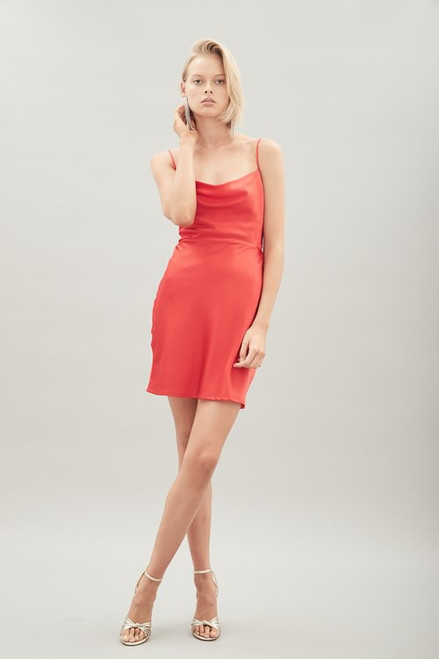 Isla Silk Dress - Scarlett