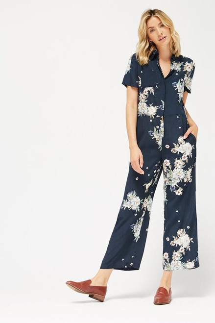 Midnight Birdie Jumpsuit  -  Midnight Floral