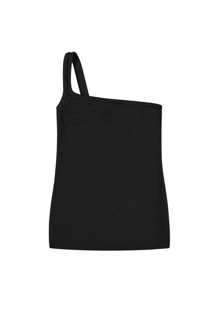 Ribbed L-Shape Cami - Black
