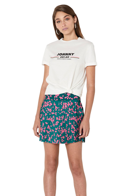 Floral Pleated Mini Skirt - Petal Punch Floral