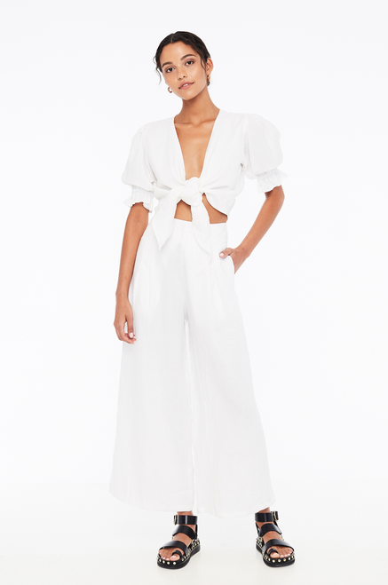 Jamais Wrap Top - White