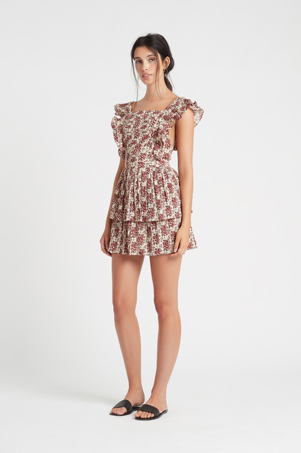 FLORÉ RUFFLE MINI DRESS- FLORÉ PRINT