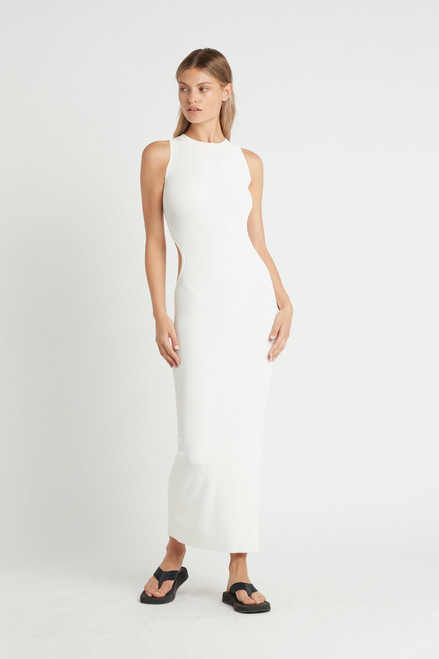 CELLE CUT OUT DRESS - IVORY