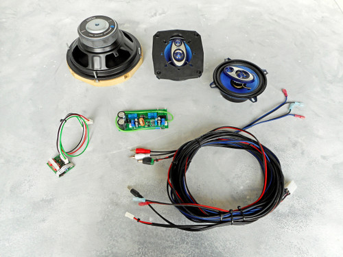 PinWoofer System Kit Pinball Speaker Kit Upgrade and Subwoofer Backbox Amplifier Kit System for Improved Sound