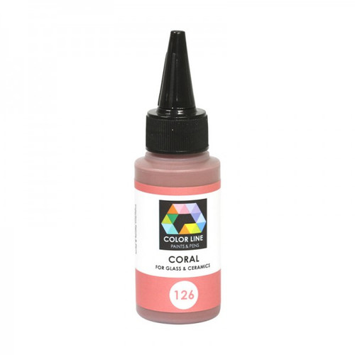 CORAL COLOR LINE ENAMEL PEN