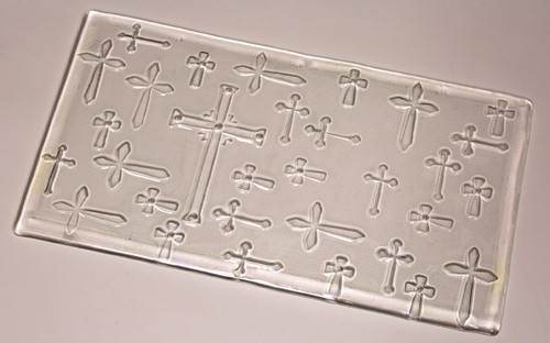DT17 CROSSES TEXTURE GLASS MOLD