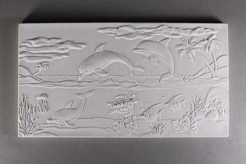 DT33 DOLPHIN SEASCAPE TEXTURE GLASS MOLD