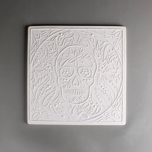 DT37 DAY OF DEAD TEXTURE GLASS MOLD