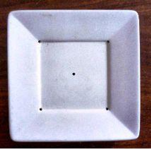 G1019 SQUARE PLATE W/LIP GLASS MOLD