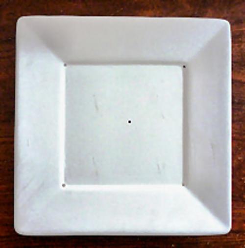 G1020 SQUARE PLATE W/LIP GLASS MOLD