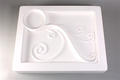GM107 SPIRAL APPETIZER TRAY GLASS MOLD