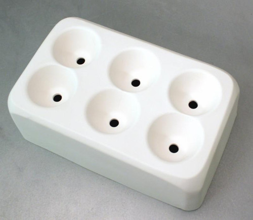 GM158 6 HOLE MULTI MINI SCRAP MASTER GLASS MOLD