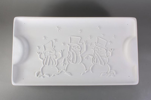 GM167 SNOWMAN PLATTER GLASS MOLD
