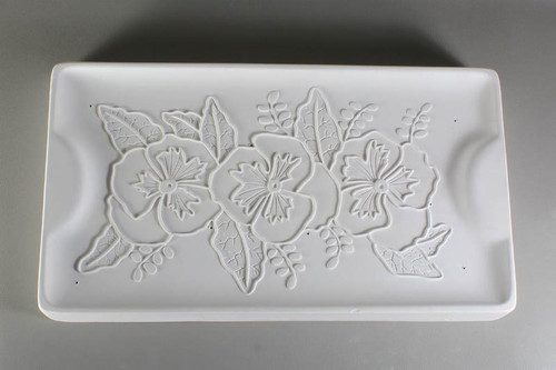 GM176 RECTANGLE PANSY ONE AND DONE TRAY GLASS MOLD