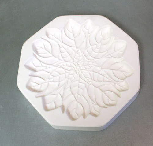 LF123 LARGE POINSETTIA FRIT CAST GLASS MOLD