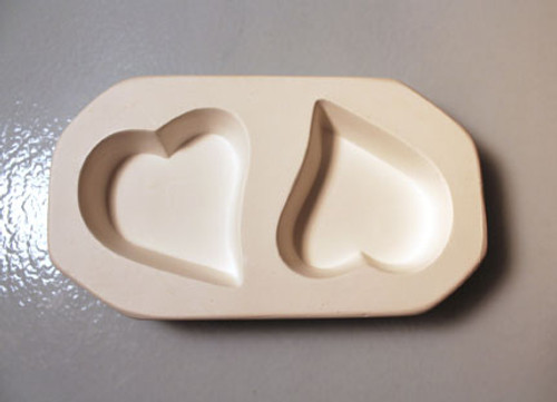 LF124 JEWELRY CAST-A-CAB HEARTS GLASS MOLD