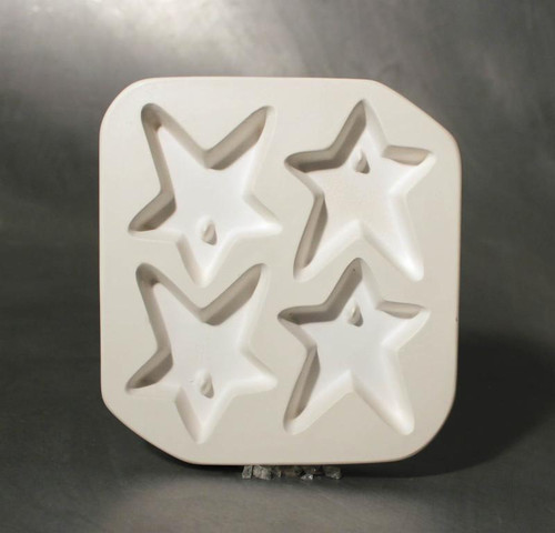 LF134 JEWELRY HOLEY STAR QUAD GLASS MOLD