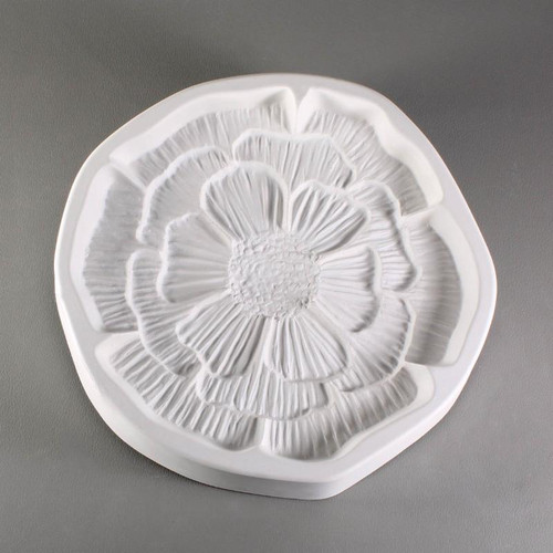 LF143 SMALL PATTY GRAY FRIT CAST POPPY GLASS MOLD