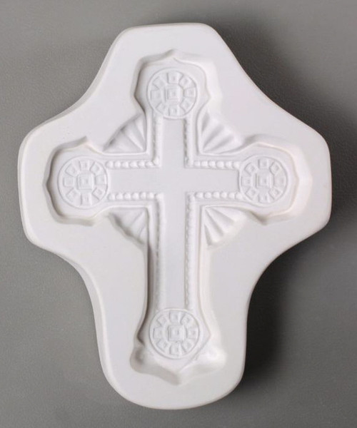 LF155 ORNATE CROSS GLASS FRIT MOLD